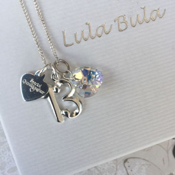 13th birthday silver jewellery  gift for a granddaughter
